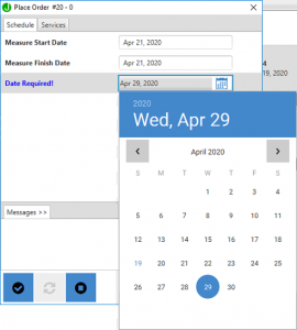 Click calendar to change date