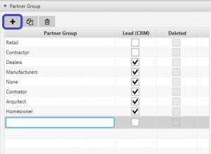 add new partner group